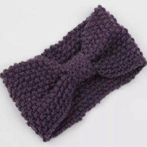 Accessories - 3 for $25!! Purple Knitted Headband Cold Weather